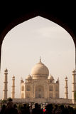 Taj Mahal within archway Royalty Free Stock Images