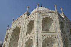 Taj mahal arkitektur Agra, Indien Arkivbilder
