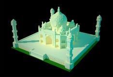 Taj Mahal - art 3d Images libres de droits