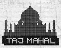 Taj Mahal art symbol Royalty Free Stock Image