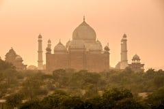 Taj Mahal au coucher du soleil, Agra, uttar pradesh, Inde. photos stock