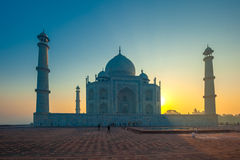 Taj Mahal au lever de soleil, Âgrâ, Inde photo stock