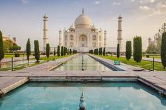 Taj Mahal au lever de soleil Photos libres de droits