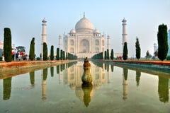Taj Mahal au lever de soleil, Agra, uttar pradesh, Inde. Photos stock