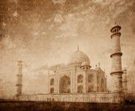 Taj Mahal auf Sonnenaufgangsonnenuntergang, Agra, Indien Lizenzfreie Stockfotografie