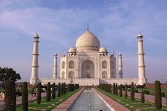Taj mahal in avondlicht royalty-vrije stock afbeeldingen