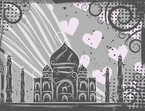 Taj Mahal background Stock Photography