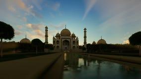 Taj Mahal, beautiful sunrise, camera panning vector illustration