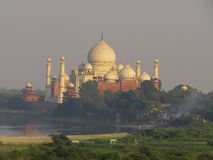 Gagra, India, November 21, 2013. The Taj Mahal is a beautiful white marble mausoleum. View from Fort royalty free stock photo