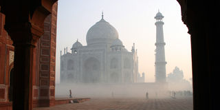 Taj Mahal befogged Fotografía de archivo