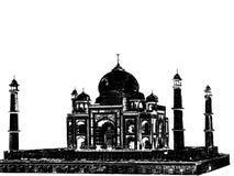 Taj Mahal Black Stock Foto's