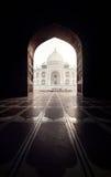 Taj Mahal in black arch Stock Photos