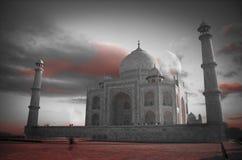 Taj Mahal. The Taj Mahal. black and red and white photo Stock Images