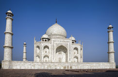 Taj Mahal in blue sky Stock Photography