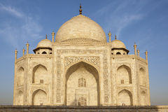 Taj Mahal with blue sky behind. Stock Photography