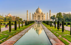 Taj Mahal, Blue sky,  India Royalty Free Stock Photos