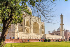 Taj Mahal, Blue sky, Travel to India Royalty Free Stock Photography