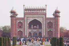 Taj Mahal brama Obrazy Royalty Free