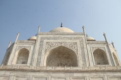 Taj Mahal Building Agra, Uttar Pradesh, Indien Arkivfoton
