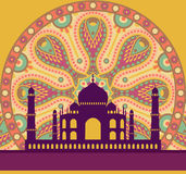 Taj Mahal card Royalty Free Stock Image