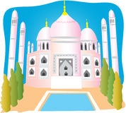 Taj mahal. A cartoon illustration of the Taj Mahal Royalty Free Stock Photography