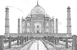Taj Mahal illustration libre de droits