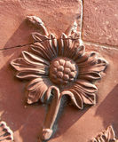 Taj Mahal ceramic flower detail in Agra, India Royalty Free Stock Images