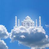 Taj Mahal in cielo Fotografia Stock Libera da Diritti