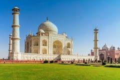 Taj Mahal, cielo blu, viaggio in India Fotografia Stock Libera da Diritti