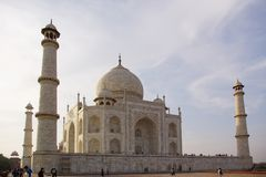 Taj Mahal close-up Stock Images