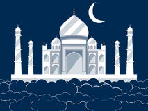 Taj Mahal in the clouds. Ancient Palace and landmark of India. Royalty Free Stock Image