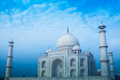 Taj Mahal Cold Tone Royalty Free Stock Photos