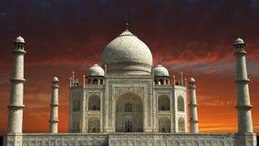 Taj Mahal, curso da Índia, nascer do sol de Ásia, por do sol video estoque