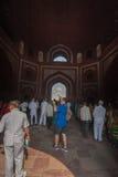 Taj Mahal czołowy widok od głównej bramy Obraz Royalty Free