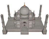 Taj Mahal-3D mausoleum - geef terug stock illustratie