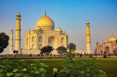 Taj Mahal dans la ville d'?gr?, ?tat d'Uttar Pradesh, Inde image libre de droits