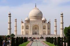 Taj Mahal de la piscina de la reflexión - Agra, la India Fotos de archivo