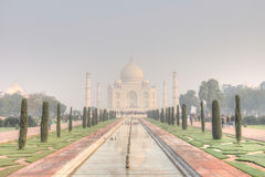 Taj Mahal in de Vroege Ochtend Stock Afbeelding