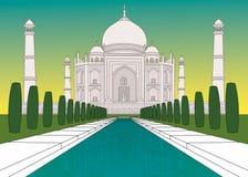 Taj Mahal in den Farben stock abbildung