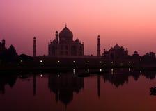 Taj Mahal an der Dämmerung Lizenzfreies Stockbild