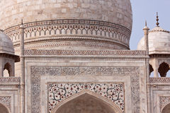 Taj Mahal detail, Agra Stock Photo