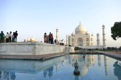 Taj Mahal. From a different angle in the morning Stock Photography