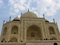 Taj mahal from a different angle royalty free stock photography