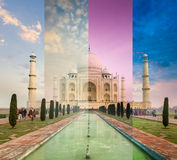 Taj Mahal in different weather, Agra, India Stock Image