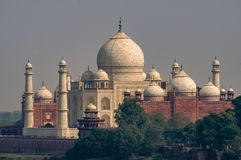 Taj Mahal Distant Shot from Red Fort India stock photography