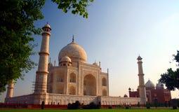 Taj Mahal do lado do sudoeste Fotografia de Stock