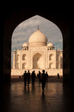 Taj mahal door arch view Royalty Free Stock Photos