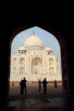 The taj mahal in the door Stock Photos