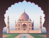 Taj Mahal durch das Fenster stock abbildung