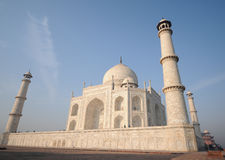 Taj Mahal in early morning close-up Stock Photos